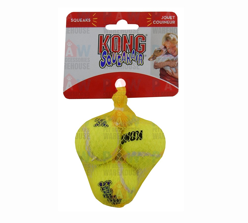 Kong Air Dog Squeaker Tennis Balls Extra Small - Pack of 3