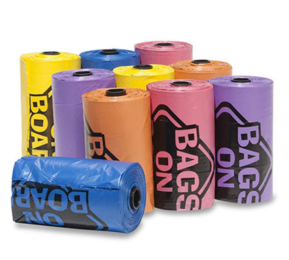 Bags On Board Refill - 1 Roll of 14 Doggie Poop Bags