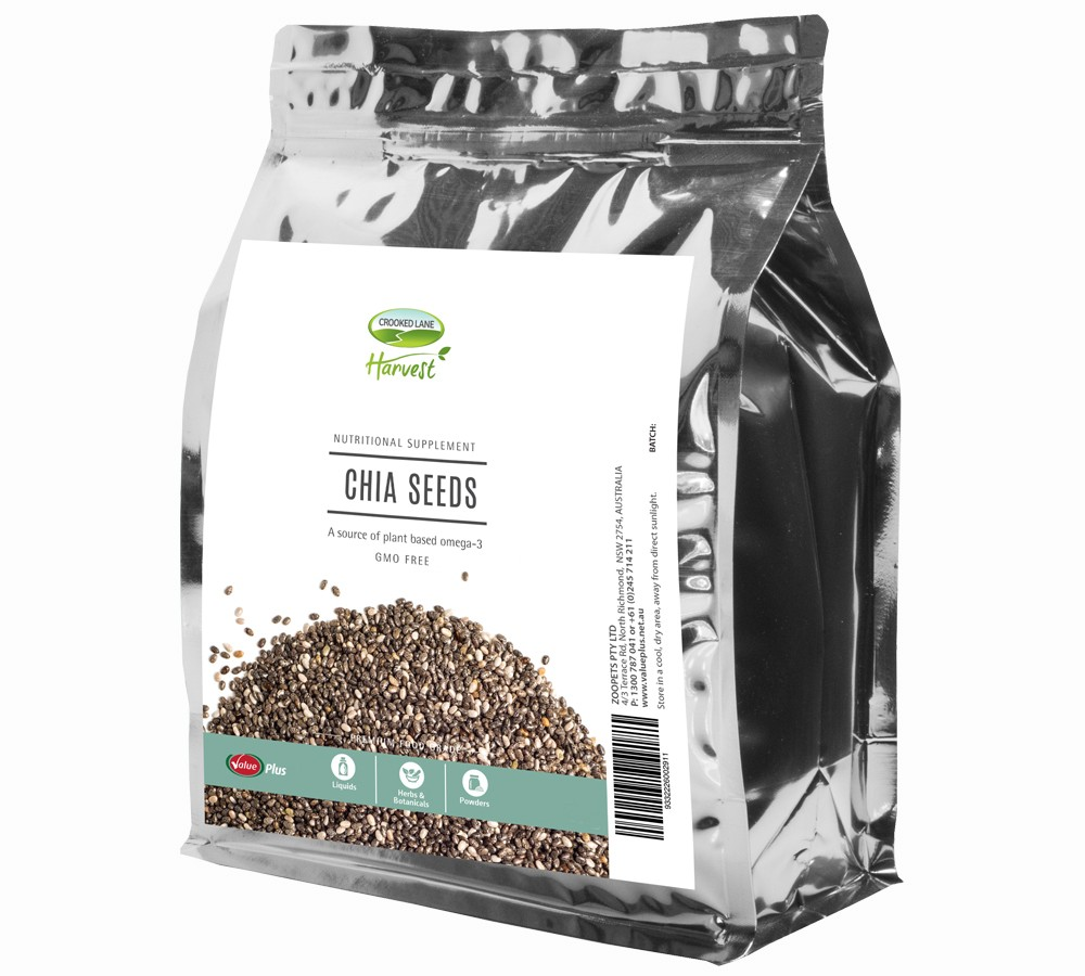 Crooked Lane Harvest - Black Chia Seeds 1kg
