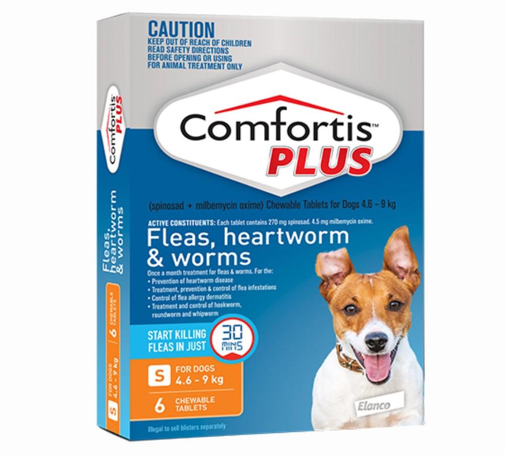 Comfortis Plus for Dogs 4.6-9.0kg ORANGE - 6 Pack