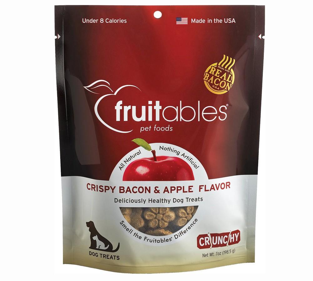 Fruitables Crunchy Treats Crispy Bacon & Apple Dog Treat Snacks 198gm