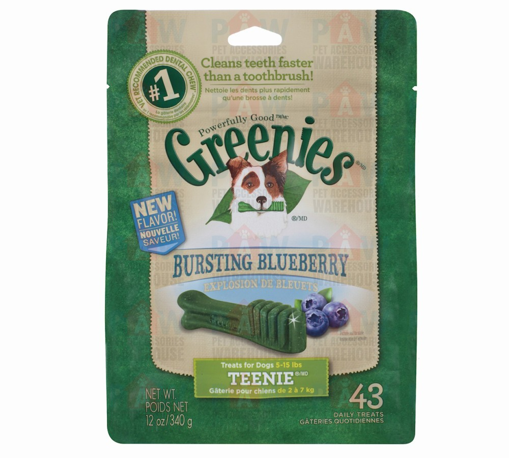 Greenies for Dogs Blueberry Teenie Size - 340gm