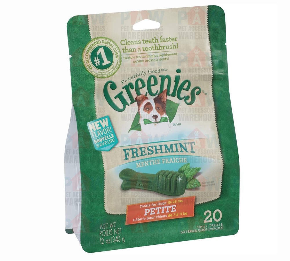 Greenies for Dogs Fresh Mint Petite Size - 340gm