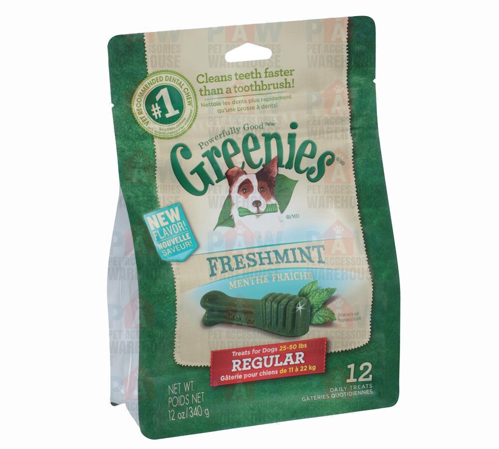 Greenies for Dogs Fresh Mint Regular Size - 340gm