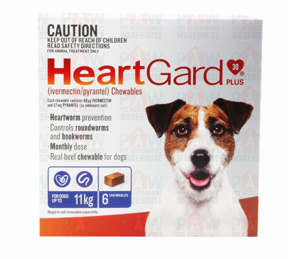 Heartgard Plus for Dogs Up to 11kg BLUE - 6 pack