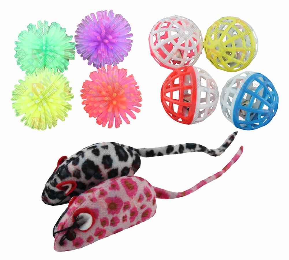 Cat and Kitten Toy Pack - 10 Toys