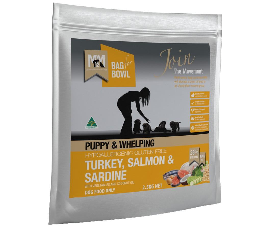 Meals For Mutts Puppy Turkey, Salmon & Sardine 2.5kg