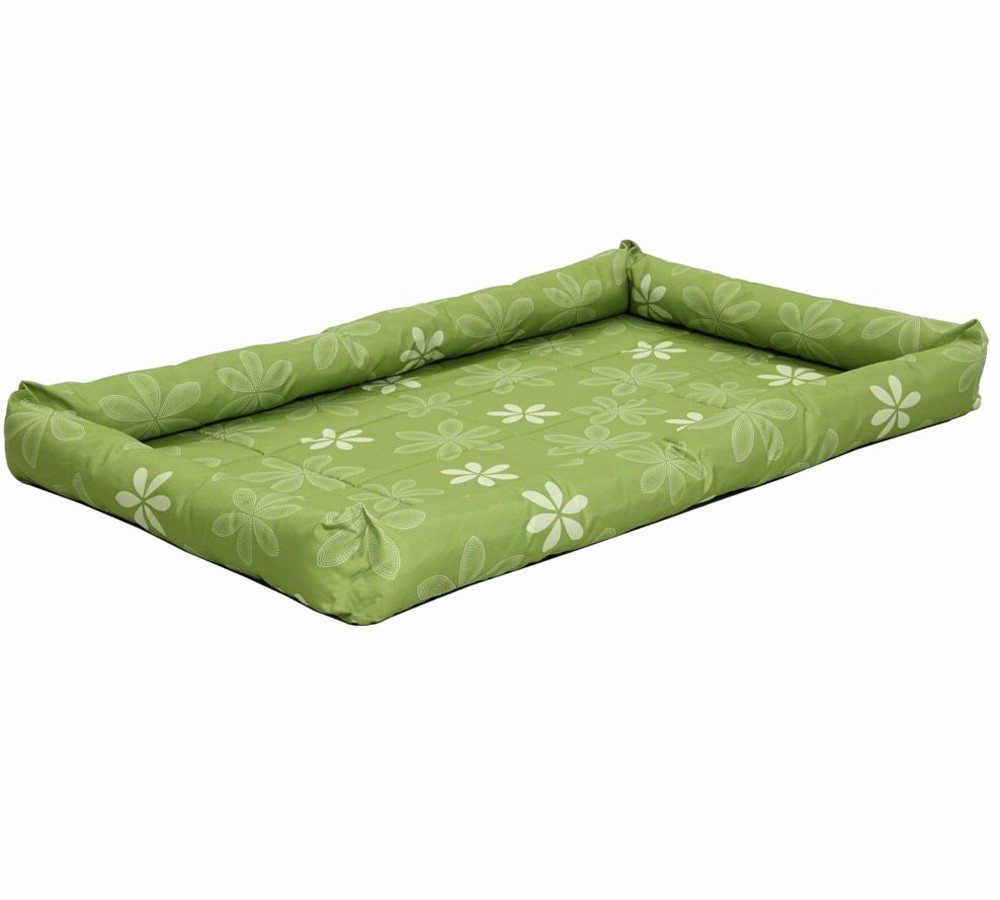 Midwest Green Paradise Floral Crate Mat Dog Bed 30""