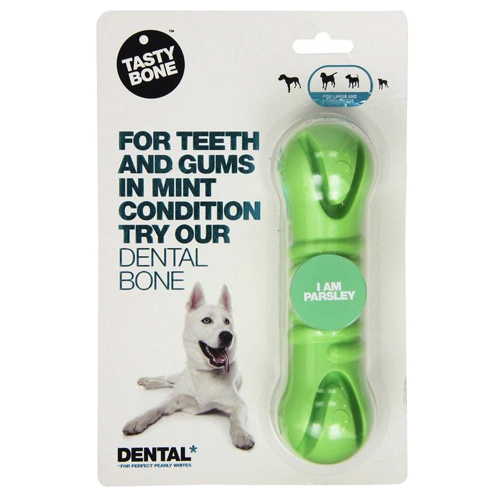 Tasty Bone Nylon Dental Bone for Medium to Large Dogs - Parsley