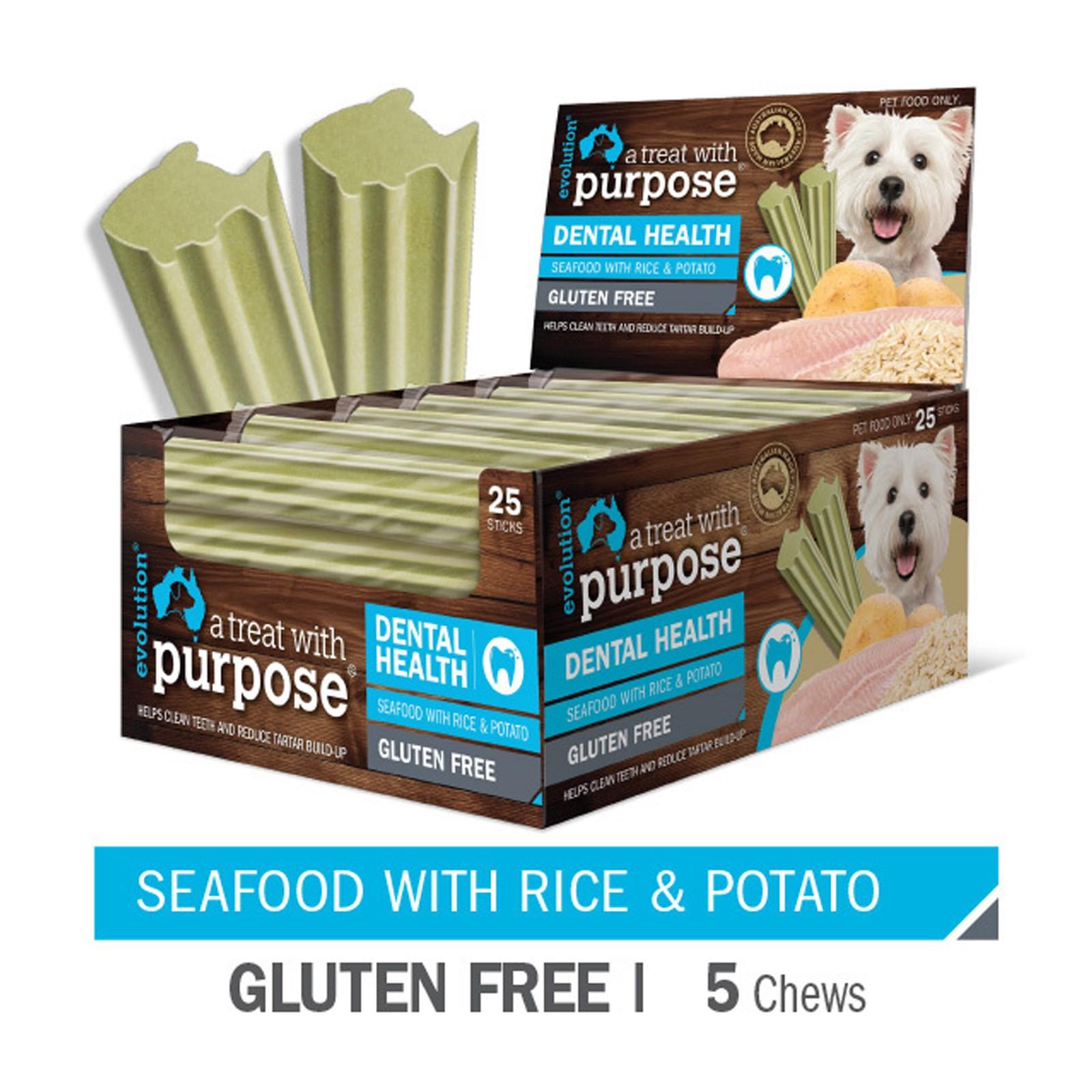 Evolution Dental Sticks for Dogs Seafood Treats - 5 Pack