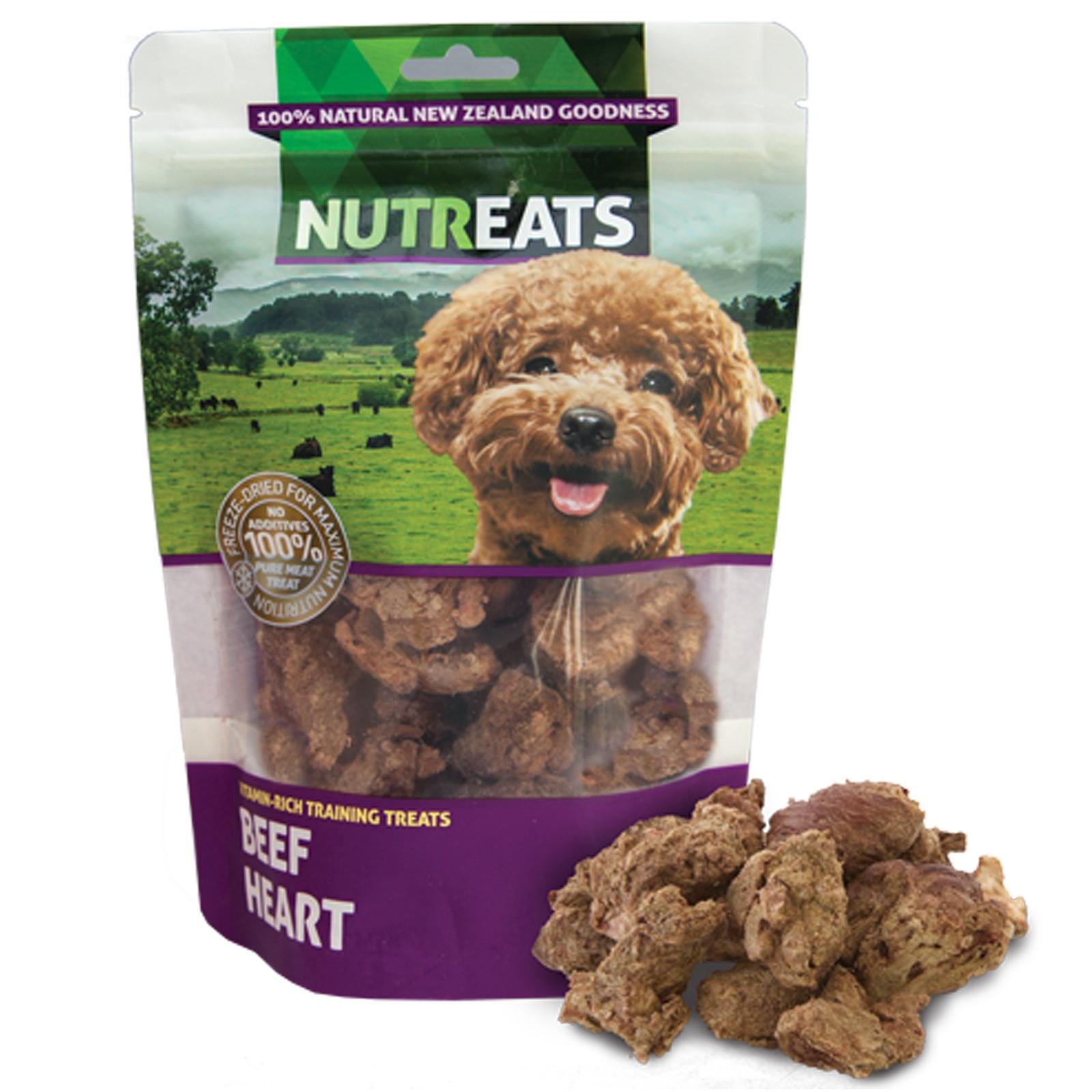 Nutreats 100% Natural Dog Treats Beef Heart 50gm