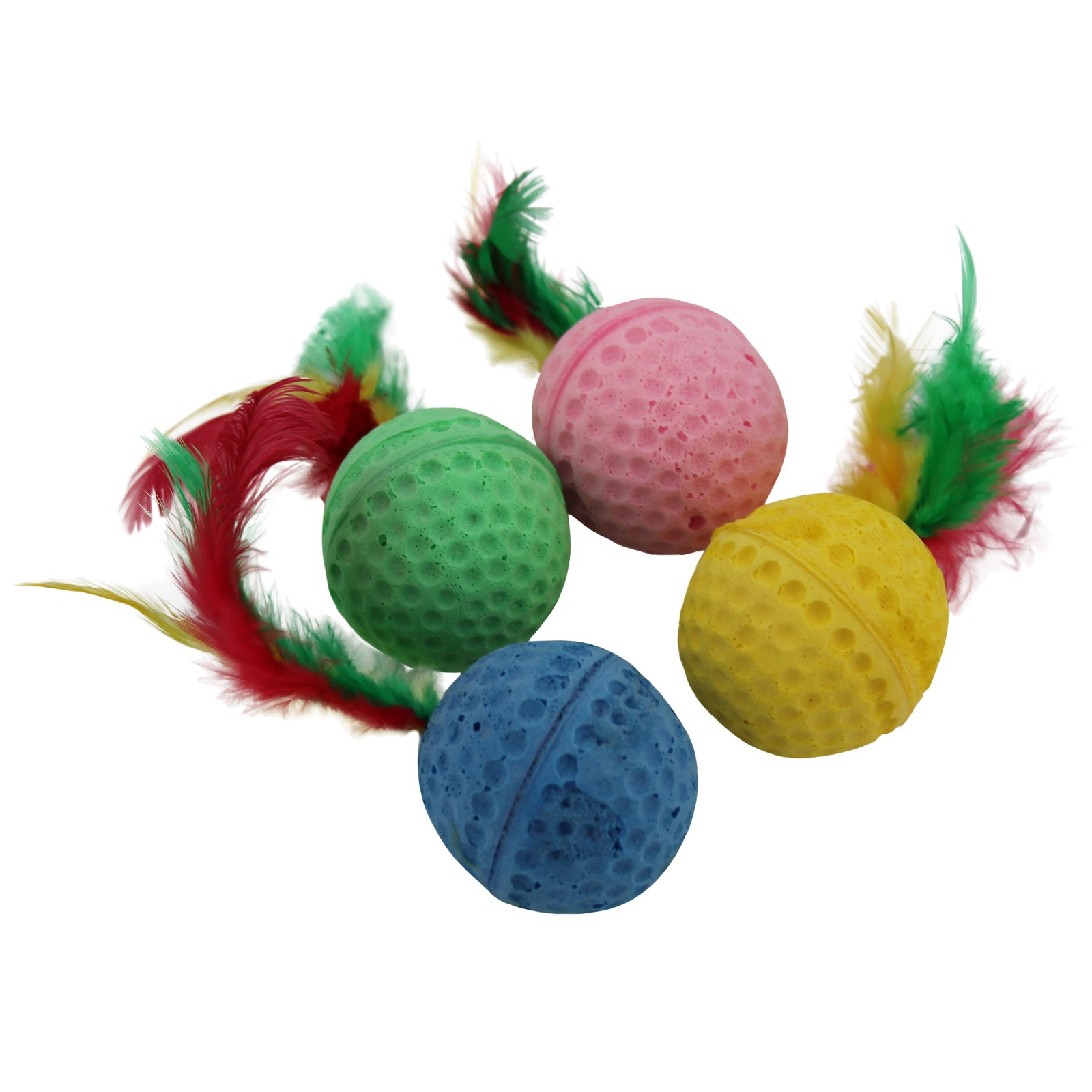 Feather Balls for Cats - 4 Pack