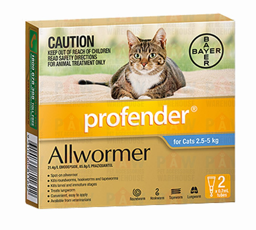 Bayer Profender for Cats 2.5-5kg - 2 Spot On's