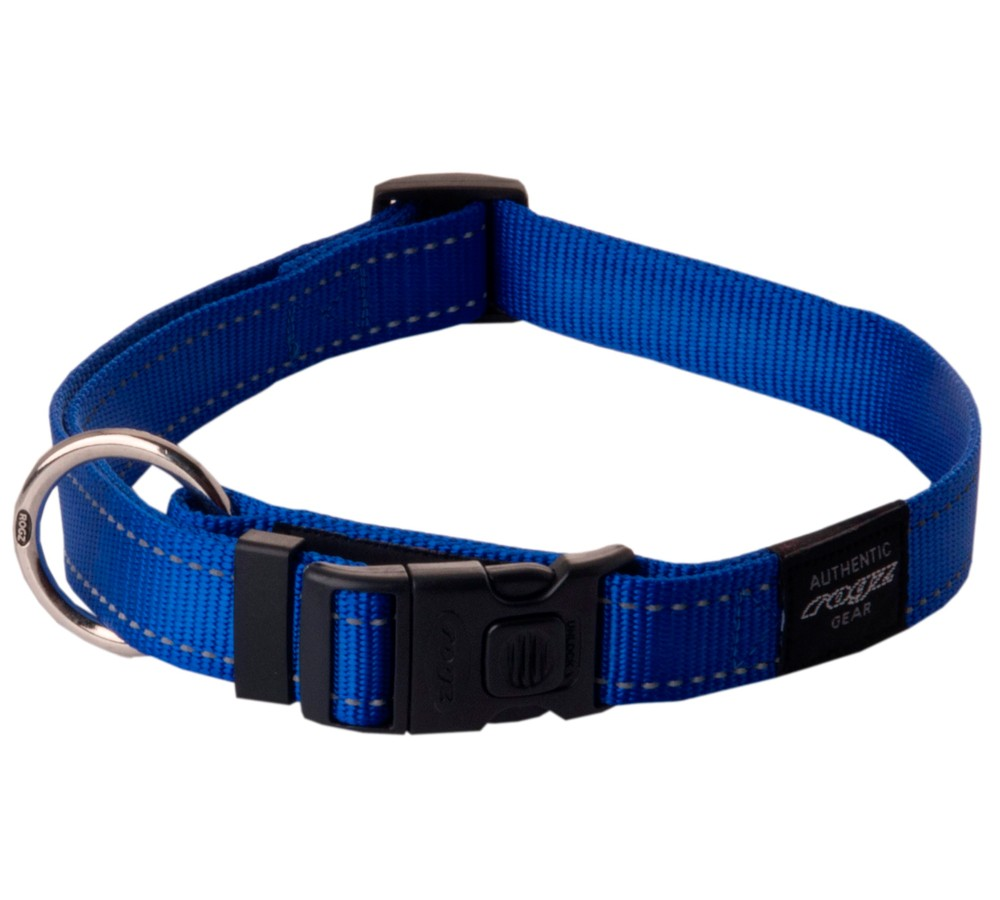 Rogz Utility Collar For Dogs - Lumberjack 25mm 43-70cm XL - Blue