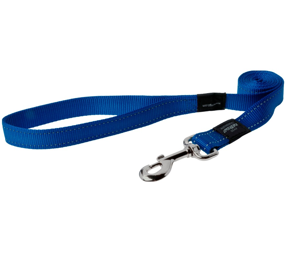 Rogz Utility Lead For Dogs - Snake 16mm 1.4mtr - Blue