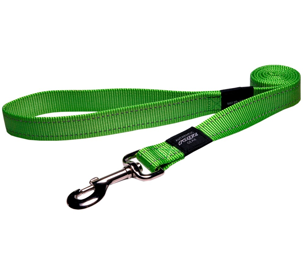 Rogz Utility Lead For Dogs - Snake 16mm 1.4mtr - Lime