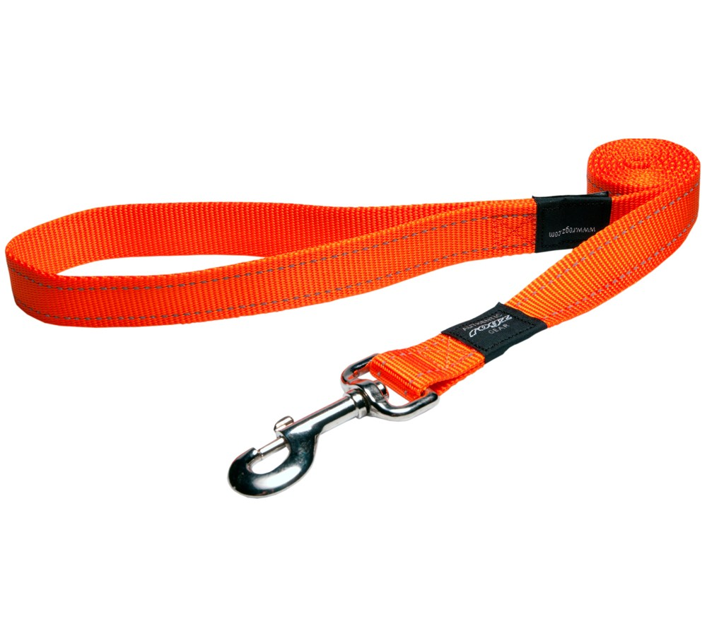 Rogz Utility Lead For Dogs - Lumberjack 25mm 1.2mtr - Orange