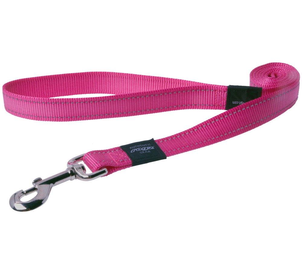Rogz Utility Lead For Dogs - Lumberjack 25mm 1.2mtr - Pink