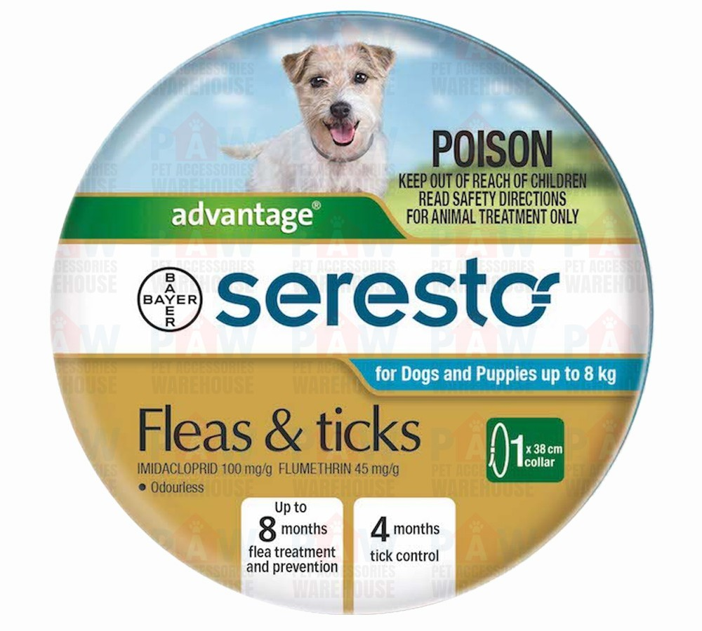Advantage Seresto Flea & Tick Collar - Dogs & Puppies Under 8kg