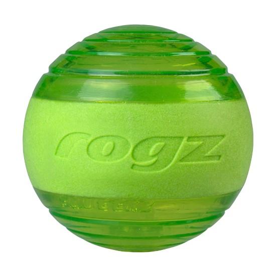 Rogz Squeekz Dog Toy Ball - Lime