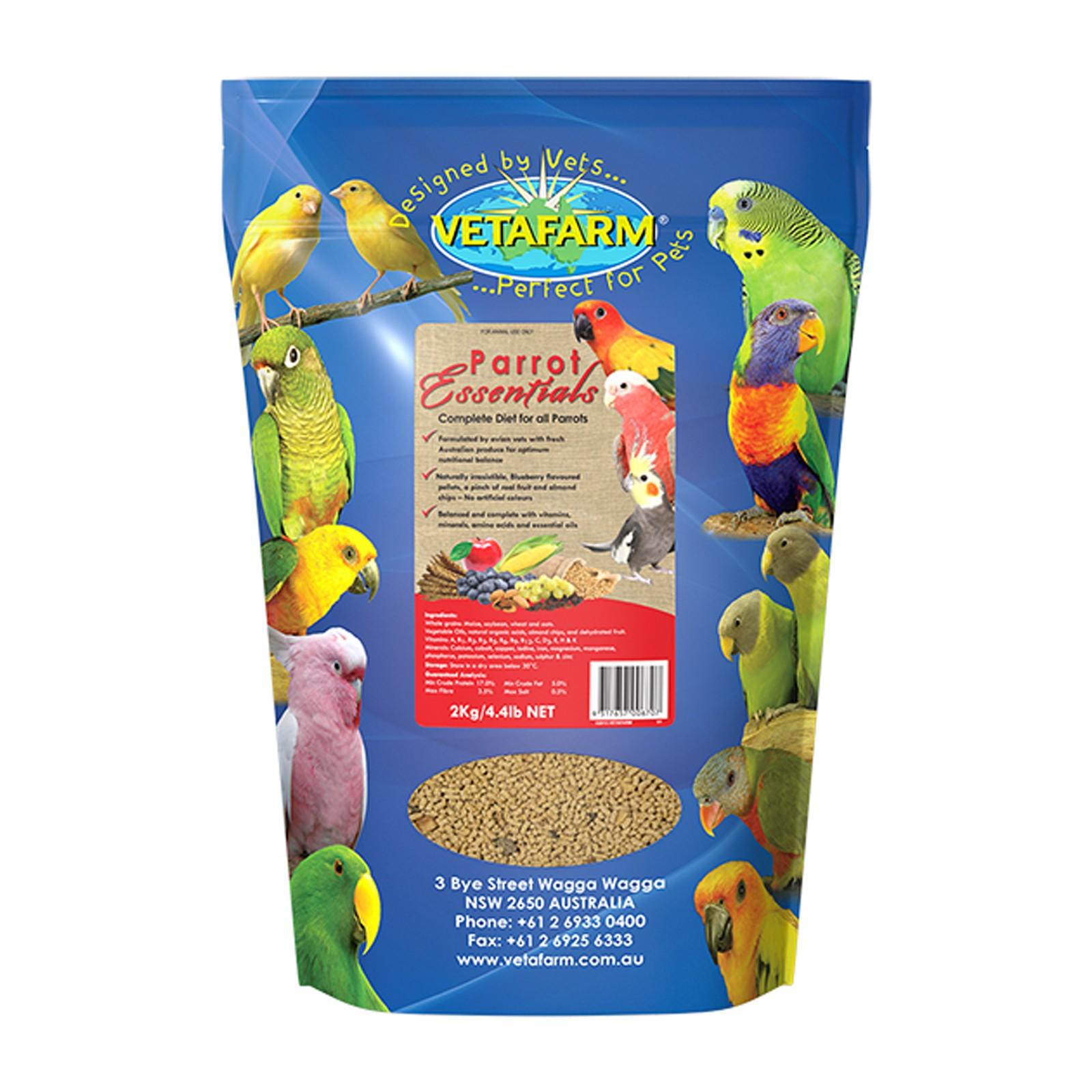 Vetafarm Parrot Essentials Pellets 2kg - For all Pet Parrots and Birds