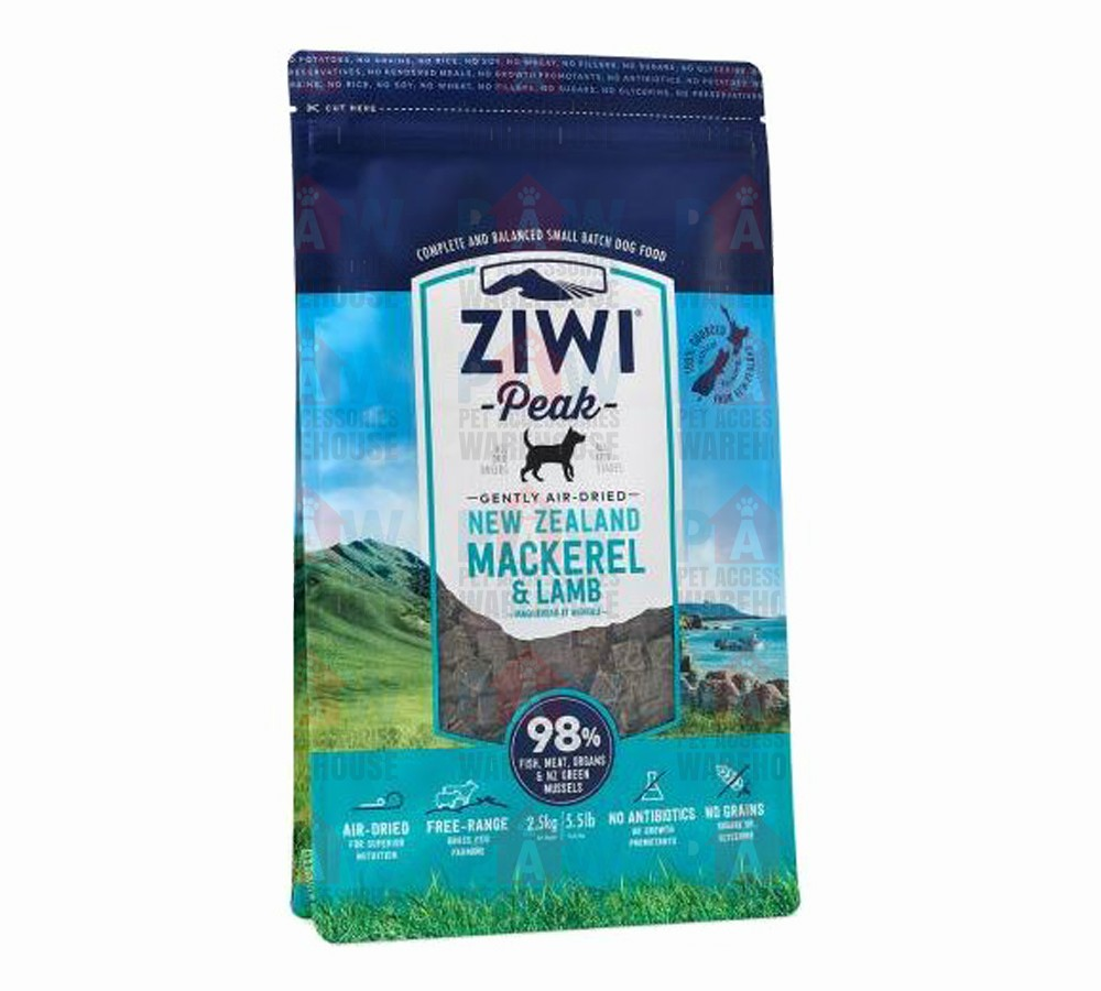 Ziwipeak for Dogs Air Dried Mackerel & Lamb Cuisine 1kg