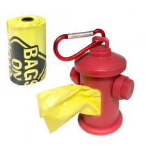 Bags On Board Fire Hydrant Dispenser with 30 Doggie Poop Bags