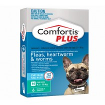 Comfortis Plus for Dogs 9.1-18.0kg GREEN - 6 Pack