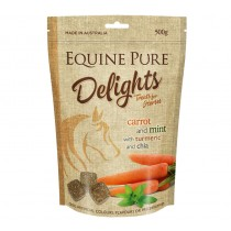 Equine Pure Delights Treats For Horses - Carrot Mint Turmeric & Chia 500gm