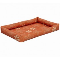 Midwest Orange Paradise Floral Crate Mat Dog Bed 24""