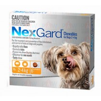 Nexgard for Dogs 2.0-4.0kg ORANGE - 6 Pack