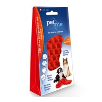 Pet+Me Silicone Grooming Brush Red