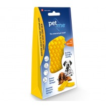 Pet+Me Silicone Grooming Brush Yellow