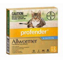 Bayer Profender for Cats 2.5-5kg - 2 Spot On's