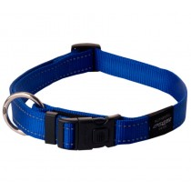 Rogz Utility Collar For Dogs - Fanbelt 20mm 34-56cm Large - Blue