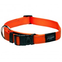 Rogz Utility Collar For Dogs - Fanbelt 20mm 34-56cm Large - Orange