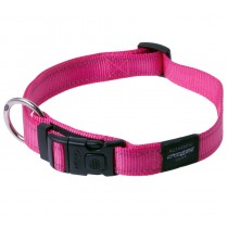 Rogz Utility Collar For Dogs - Fanbelt 20mm 34-56cm Large - Pink