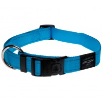 Rogz Utility Collar For Dogs - Fanbelt 20mm 34-56cm Large - Turquoise