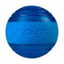 Rogz Squeekz Dog Toy Ball - Blue
